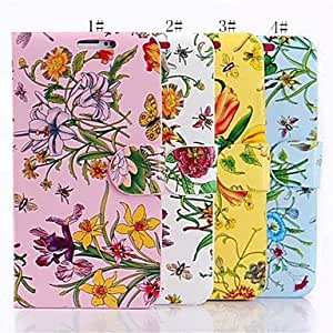 Mini - Flower Pattern PU Leather Full Body Case for Samsung Galaxy S5 I9602 ,Color: 2#