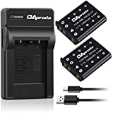OAproda 2 Pack Replacement EN-EL10 Battery and Ultra Slim Micro USB Charger for Nikon Coolpix S60, S80, S200, S210, S220, S230, S3000, S4000, S500, S510, S520, S570, S600, S700, MH-63 Charger