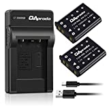 OAproda 2 Pack Replacement Nikon EN-EL10 Battery and USB Charger for Nikon Coolpix S5100, S4000, S3000, S700, S600, S570, S520, S510, S500, S230, S220, S210, S200, S60 Digital Camera, MH-63 Charger