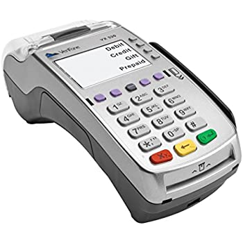 VeriFone VX 520 Dual Com 160 Mb Credit Card Machine, EMV (Europay, MasterCard, Visa) and NFC (Near Field Communication) or Contactless, Dial Up and ...