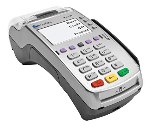 VeriFone VX 520 Dual Com 160 Mb Credit Card Machine, EMV (Europay, MasterCard, Visa) and NFC (Near Field Communication) or Contactless, Dial Up and Internet Connectivity ()