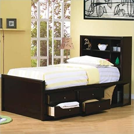 Coaster Phoenix Collection 400180F Full Size Storage Bed In Cappuccino