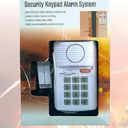 Cerradura de Seguridad con Teclado y Alarma para Puerta / Caseta / Caravana / Garaje