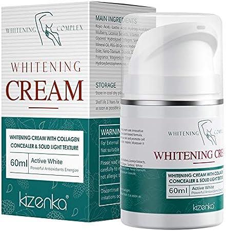 Crema Blanqueadora para Cuerpo, Crema Blanqueadora con Ingredientes Naturales para la Piel, Partes Privadas e Hidrata la Piel para Mujeres y Hombres 60ML