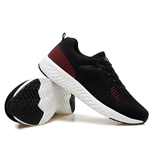 40 Malla Ligeras Black3 Casual Negras Zapatillas de Hombres para Zapatillas Transpirables PqC6Sxw