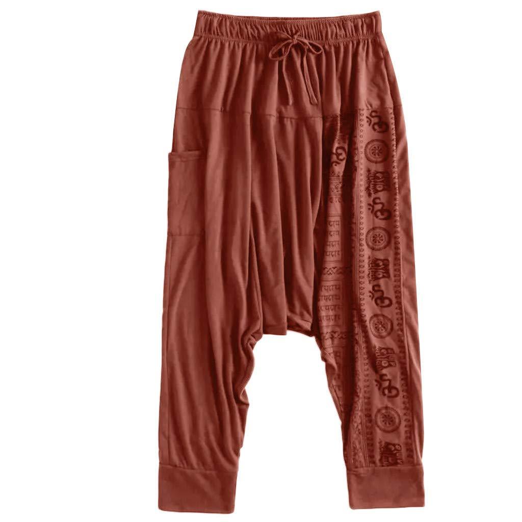 Pantalone Hombre Verano Pantalones Largos Sueltos De Impresion Casual Para Hombres Pantalones De Nacionalidad De Gran Tamano Pantalones Pants Jeans Harem Ropa Especializada Ropa