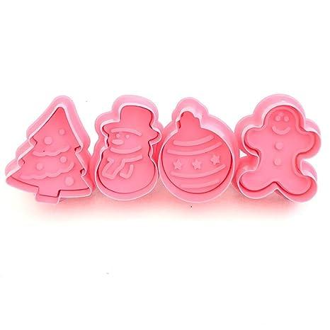Naisidier - Molde para Galletas (plástico ABS, decoración navideña)