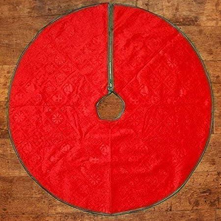 En Relief Motif Grand 90cm Rouge Festive Sapin De No/ël Nappe D/écoration