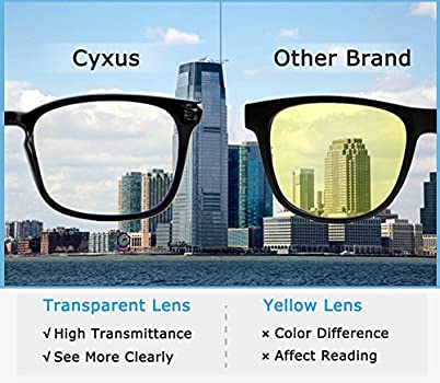 Cyxus Blue Light Filter Computer Glasses For Blocking Uv Blue Ray Minimize Headache Anti Digital Eye Fatigue Transparent Lens Unisex Gradient Green Frame Amazon In Health Personal Care