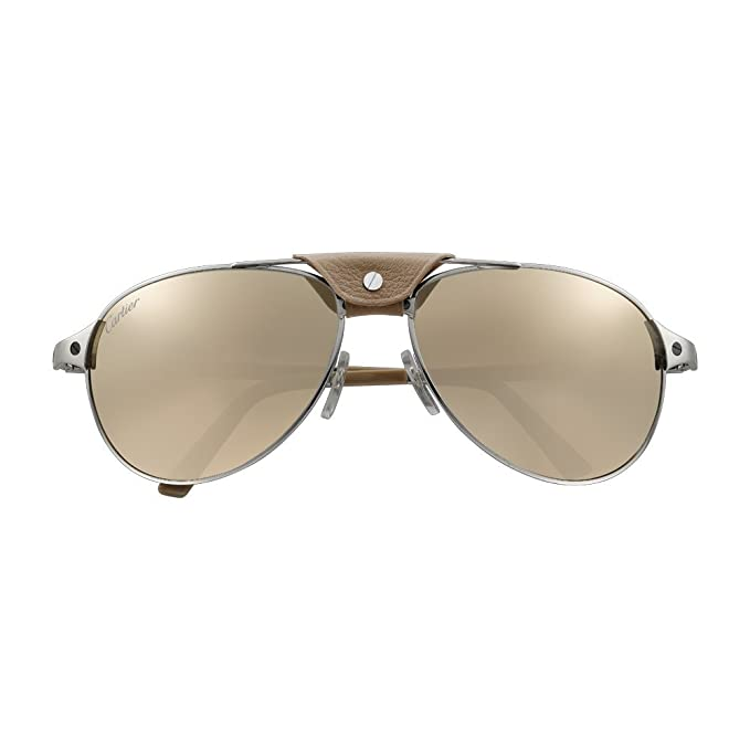 Amazon.com: Cartier Santos Dumont Aviator 61 mm con borde ...