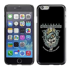 rígido protector delgado Shell Prima Delgada Casa Carcasa Funda Case Bandera Cover Armor para Apple Iphone 6 /US Army Special Forces/ STRONG