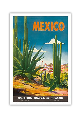 (Mexico - Ciudad Juarez, Chihuahua - Direccion General de Turismo (Department of Tourism) - Vintage World Travel Poster by Magallón c.1948 - Master Art Print - 12in x 18in)