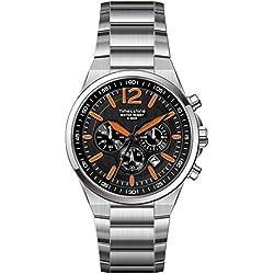 Timesshine Men's TSM1440 Chronograph Stainless Steel Band Watch
