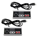 NES Classic USB PC Controller (2 PACK BUNDLE) - Top Wired Paddle Joypad &...