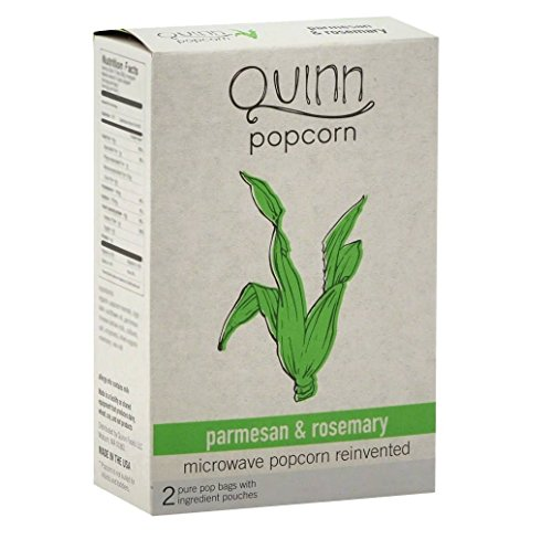 Quinn Microwave Popcorn - Parmesan & Rosemary - 6 Pack