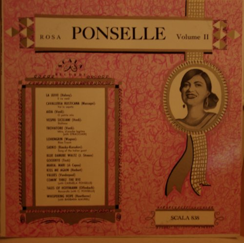 Price comparison product image Great Voices of the Century: Rosa Ponselle. Volume 2 / Scala 838