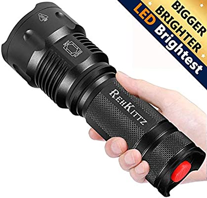 LED Flashlight Torch Powerful Bright Military 2400lm Zoom