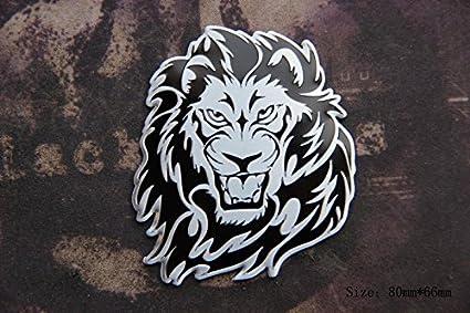 Amazon com : D982 2 pcs Lion Lion King car Sticker 3D Emblem