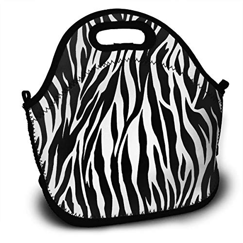 - Yisliferunaz Striped Zebra Horse Tiger Texture Lunch Bag Portable Bento Bags Food Boxes Carry Case Tote Adults Kids Outdoor Multifunction Handbag Pouch for Picnic Travel School Office Trip Work