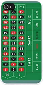 Rikki KnightTM Roulette Table Design iPhone 4 & 4s Case Cover (White Rubber with bumper protection) for Apple iPhone 4 & 4s