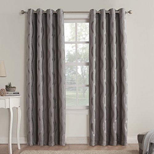 *Sun Zero Stratton Room-Darkening Grommet-Top Curtain Panel