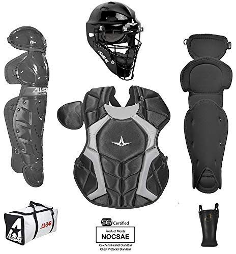 All-Star Intermediate Players Series Catcher Kit Ages 12-16 Black