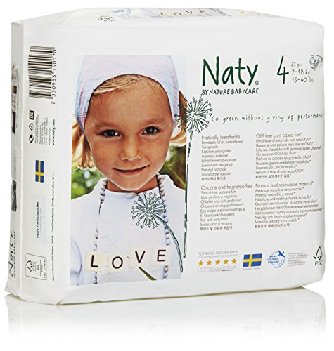Nature Babycare Eco-Diapers, Size 4, 108 count