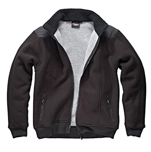 DICKIES Fleece Zipjacke schwarz gefütterte Jacke Reißverschluss (2XL)