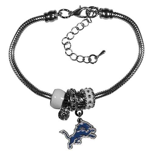- Siskiyou NFL Detroit Lions Womens Euro Bead Bracelet