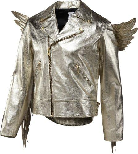 Adidas Men's Jeremy Scott JS Gold Wings Leather Jacket, X29880, - Scott Gold Jeremy