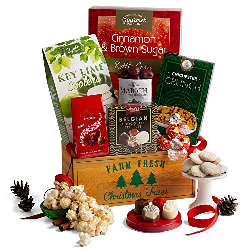 2019 Christmas Gift Crate - Holiday Gift Basket of Chocolate, Candy, Cookies, and Popcorn (Best Food Gifts For Christmas 2019)