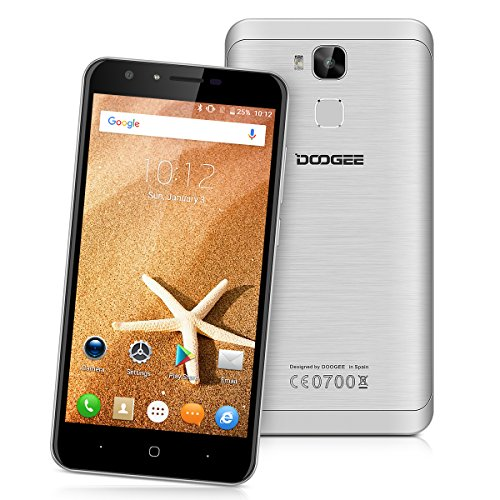 DOOGEE Y6C 5.5 Zoll 4G-LTE-Smartphone Android 6.0 Marshmallow MT6737 Quad Core Handy ohne Vertrag Dual SIM2GB RAM+16GB ROM 8MP Dual Kamera Mobile Phone Fingerprint Recognition Smart Wake Gesture Sensing OTA GPS WIFI Gold