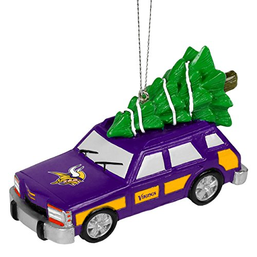 NFL Station Wagon With Christmas Tree Ornament-Minnesota Vikings