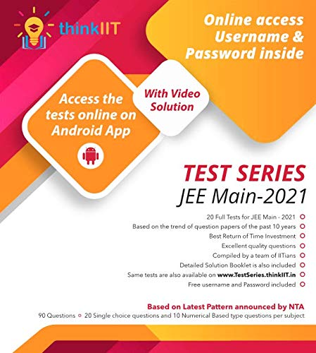 JEE Main – 2021 Test Series : 20 Test Papers with Online Access: With Video Solutions