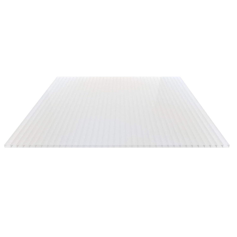 Breite 1200 mm St/ärke 16 mm Doppelstegplatte Farbe Glasklar Stegplatte Hohlkammerplatte Material Acrylglas