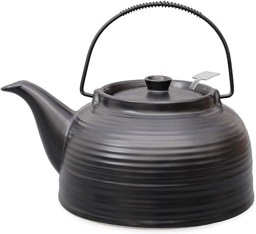 Tetera Nelly grande de cerámica Resistente al calor 1,5 L de acero ...