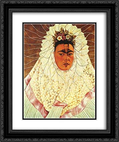 05a6d829b547 Frida Kahlo 2x Matted 20x24 Black Ornate Framed Art Print  Self Portrait as  a Tehuana