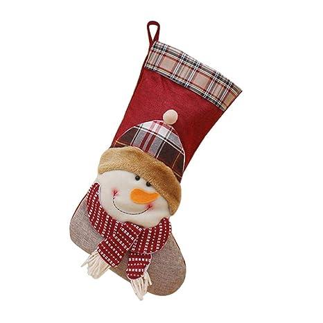 LiféUP Calcetín de Navidad, decoraciones para árboles de Navidad Calcetines de Navidad colgantes Bolso de