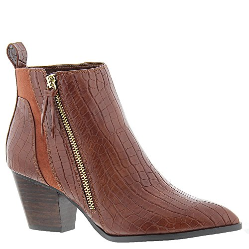 Bella Vita Women's Everest Ii Ankle Bootie, Tan Crocodile, 8 W US