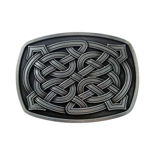 Buckle Knot Celtic (QUKE Vintage Irish Celtic Knot Silver Belt Buckle for men)