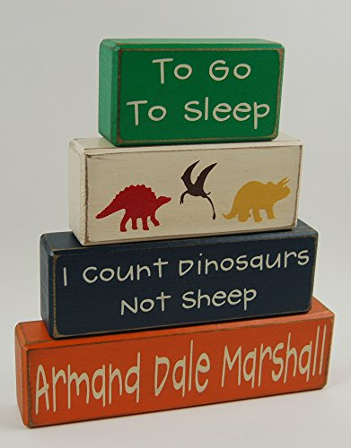 Personalized Name-To Go To Sleep I Count Dinosaurs Not Sheep