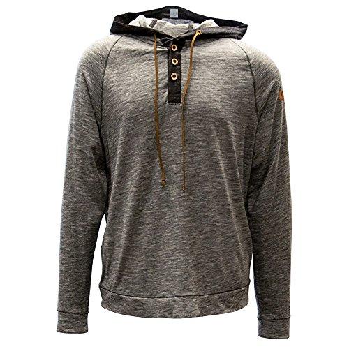 Levelwear LEY9R NCAA Oklahoma Sooners Men's Cameron Shield Henley Hoodie, Medium, Charcoal