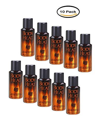 PACK OF 10 – BOD Man Body Heat Sexy Fragrance Deodorant Body Spray, 4 oz