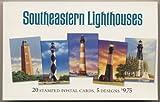 Southeastern Lighthouses: Set of 20 Stamped Postcards (Postal Cards, Post Cards)