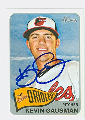 Kevin Gausman AUTOGRAPH 2014 Topps Heritage 1965 Topps Design Baltimore Orioles by Autographed Baseball Cards...