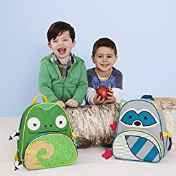 Skip Hop Zoo Little Kid and Toddler Backpack, Cody Chameleon