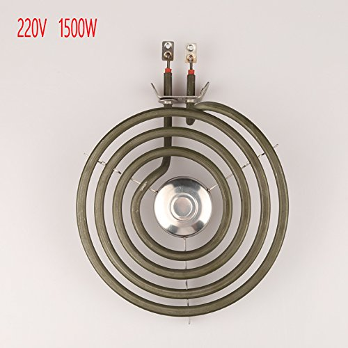 220V 1500W 4 coils heating element with whirlpool for stove surface burner,mosquito oblate heater tube with tripod
