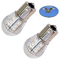 HQRP 2-Pack Headlight LED Bulb for John Deere LTR166 LTR180 LT133 LT150 LT155 LT160 LT166 LT170 LT180 LX255 LX266 LX277 LX279 LX280 LX289 L100 L107 L108 L110 L111 Tractor + HQRP Coaster