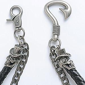 DOCILA Cool Men Trousers Pants Belt Key Skull Jean Wallet Chain Gothic Rock Keychain