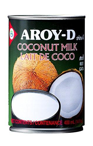 Aroy-D - Leche de coco, 8 cajas de 400 mililitros: Amazon.es: Alimentación y bebidas